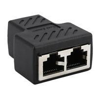 Femelle RJ45 1 à 2 Câble de Connexion Ethernet Connecteur Extension