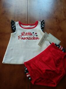 Koala Kids Baby Girls Outfits 4th Of July Clothes 2 Set Pieces 6-9M