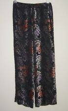 $315 Trina Turk Womens Sheer Wide Leg Pants Size 8 Rayon Silk Anthropologie Sexy