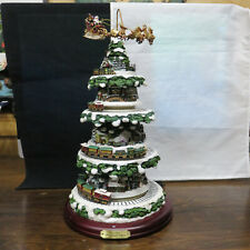 THOMAS KINKADE Wonderland Express Christmas Tree Masterpiece Edt. Hawthorne Vg