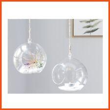 4 x 10cm Glass Hanging Terrarium Air Plant Globe Ball Candle Holder Home Decor