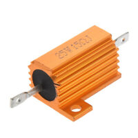 Gold-Ton 25-Watt-Netz 15 Ohm 5% Aluminiumgehaeuse Drahtwiderstand M7U6
