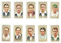 1934 Cricketers England Australia cricket Complete Tobacco Card Set 50 cards lot