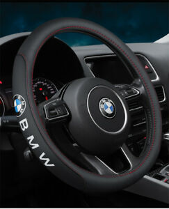 "15"" Car Steering Wheel Cover Genuine Leather For BMW New"