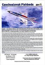 JBr Decals 1/144 MIKOYAN MiG-21 CZECHOSLOVAK FISHBED FIGHTERS