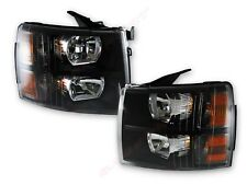 Pair Black Housing OE Replacement Headlights for 2007-2013 Chevrolet Silverado
