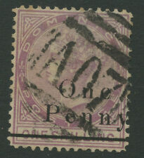 Dominica SG19 1886 1d on 1s magenta Used P13