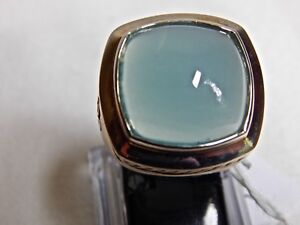 DAVID YURMAN AQUA CHALCEDONY ALBION RING 17MM