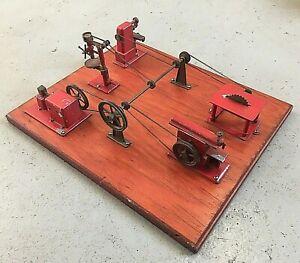 Jensen Steam Engine Toy Machine Shop 100 Complete Original All Working
