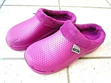 NEW Town & Country pink fleecy lightweight patterned CLOGGIES--Size 5 UK adult.