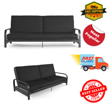 Full Size Futon Sleeper Sofa Bed Frame with Mattress Convertible Couch Loveseat