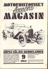 Motorhistoriskt Magasin Annons Swedish Car Magazine 9 1984 Chrysler 032717nonDBE