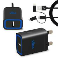 Universal Wall Charger Power Adapter & Cable with Lightning and Type C For Phone