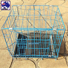 35x27x33cm Collapsible Metal Wire Dog Crate Cage Tray Pet Puppy Kennel PKENN3526