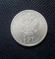 AUSTRIA - ITALY / SILVER 1/4 FLORIN 2./ 1860 V