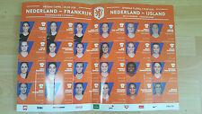 Programme / Programma Holland v Iceland 11-04-2017 Women