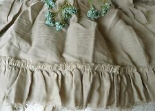 Soft Surroundings Heritage Linen Bedskirt  Natural King