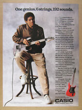 1988 stanley jordan photo Casio PG380 PG 380 Synth Guitar vintage print Ad
