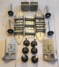 Garage Door Hardware Complete Kit - Med Duty 14 GA - 9x7 or 8x7 10 Nylon Rollers