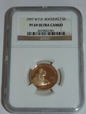 1997 W $5 Franklin D. Roosevelt Gold Commemorative Coin NGC PF 69 Ultra Cameo