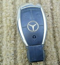 Mercedes Benz Smart Ignition Key Chrome 3 Button