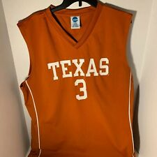 University Of Texas Longhorns Ncaa Number 3 Basketball Jersey Orange Size Xl