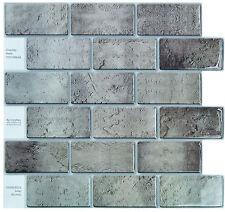 "Crystiles® Peel & Stick Tile Backsplash, Item# 91010866, 10"" X 10"", Set of 6"