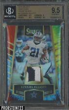 2916 Select Tie-Dye #3 Ezekiel Elliott Cowboys RC Rookie RC Patch /25 BGS 9.5