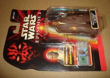 STAR WARS EPISODE I MACE WINDU WITH LIGHTSABER AND JEDI CLOAK TOMY/HASBRO 1998