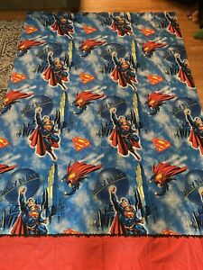 Vintage DC Comics Superman Full Sized 3-Piece Bed Sheet Set