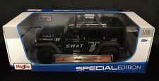 1/18 Maisto Jeep Rescue Concept SWAT Black NIB