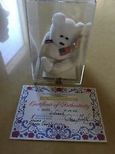 RARE -TY BEANIE BABY - LIBEARTY - PEGGY GALLAGHER - SEALED  - 4/3 GEN - MQ -