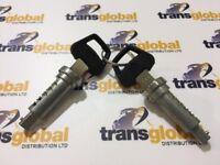 Door Barrel Lock & Key Set x2 for Land Rover Defender TD5 TDCi PUMA Larger 02 on
