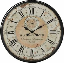 """Nice Wall Clock 32"""" Large Roman Numerals Metal Modern Industrial Shabby Chic"""