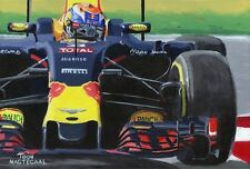 Painting Max Verstappen in the Red Bull 2016 by Toon Nagtegaal
