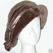 Cappello VINTAGE ANNI 20 cappello cerimonia colore fango spumante tgl 57  G123 f9a7e6c3d8fb