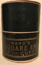 Antique Edwardian Victorian Montgomery Ward's Square End Shirt Cuffs Men's Box