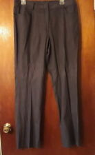 Spanner Pants Brown Black Pinstripe Cotton Blend 4 Pocket Logo Size 12