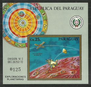 PARAGUAY 1963 -1979 SPACE ASTRONOMY VON BRAUN MERCURY VARIOUS SETS & SHEETS MNH