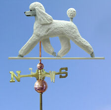 Poodle Hand Carved Hand Painted Basswood Dog Weathervane White
