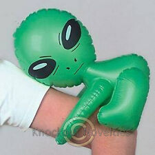 "12.5"" Inflatable Alien Inflate Green UFO Space Blow Air Party Decor Balloon Gift"