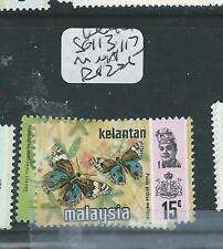 MALAYA KELANTAN (PP3007B) BUTTERFLY SG 113, 117  MNH