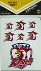 NRL Sydney Roosters iTag UV Sticker Sheet