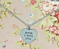Mum I Love You Heart Pendant Necklace Birthday Christmas Gift Sass & Belle