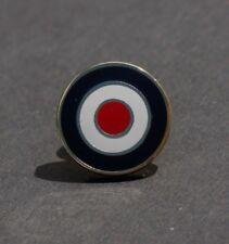 RAF ROUNDEL MOD TARGET SCOOTER BOY MEMORABILIA LAPEL PIN BADGE - GOLD     (M37B)