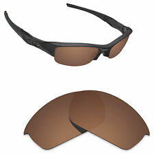 Hawkry Polarized Replacement Lense for-Oakley Flak Jacket Sunglass Bronze Brown