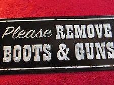 BOOTS & GUNS SHOES  SIGN HOME STORE CAFE Cowboy up WALL DECOR  METAL