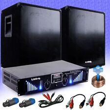 PA Extension Plant 2x 800W Subwoofer Box 3000W Amplifier Bluetooth USB MP3