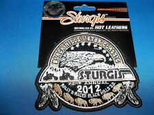STURGIS  2012 RALLY  SEPIA OFFICIAL BLACK HILLS MOTOR CLASSIC EMBROIDERED PATCH
