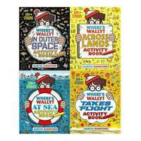 Wheres Wally Amazing Adventures and Activities Collection 4 Books Set NEW